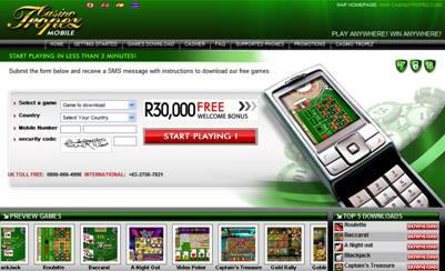 Mobile Gaming - Casino Tropez Mobile Gaming in Rands